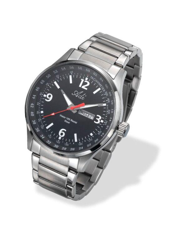 שעון פלדת אל חלד עם תאריכון לגבר - ADI