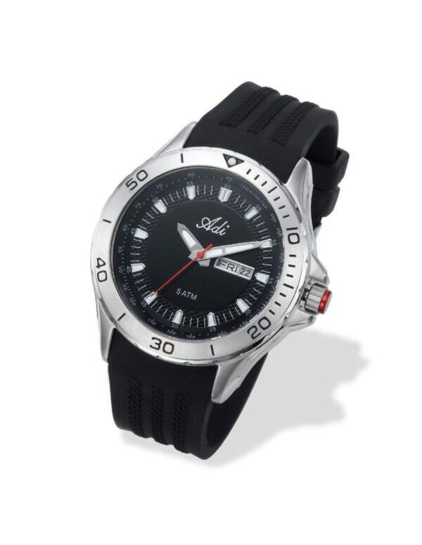 שעון טקטי לגבר עם רצועת גומי - ADI