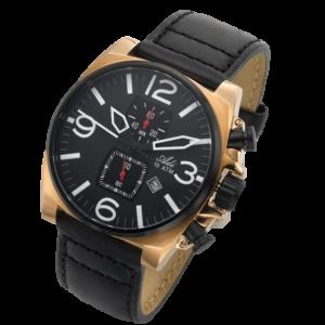 שעון כרונוגרף עם רצועה עור - ADI