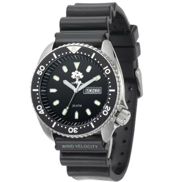 שעון צלילה לגבר עד 200 מטר עם רצועת גומי – ADI