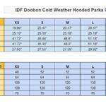 IDF Doobon Coat Chart Size