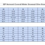 IDF Hermonit Coverall Size Chart