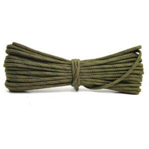 מיתר צניחה ירוק מנוקד שחור - 4 מ''מ
