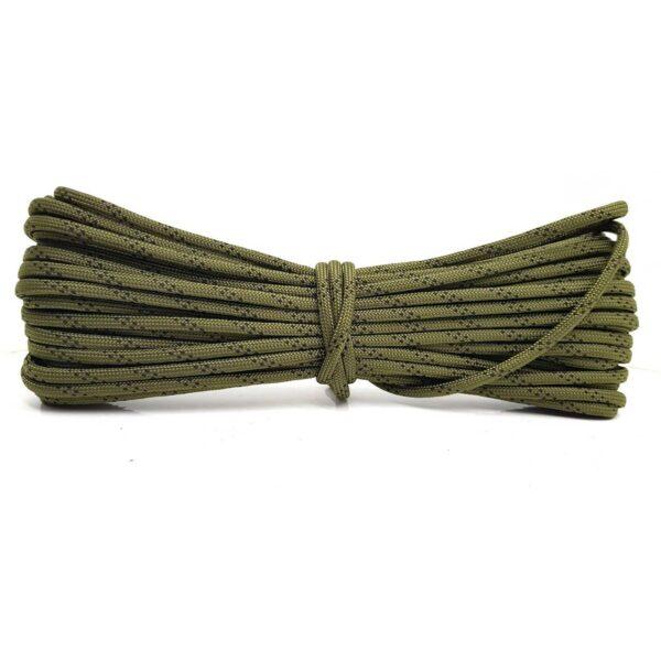 Паракорд зеленый в черную точку - 4 мм