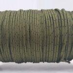 מיתר שלדג דק ירוק מנוקד שחור - 2 מ''מ