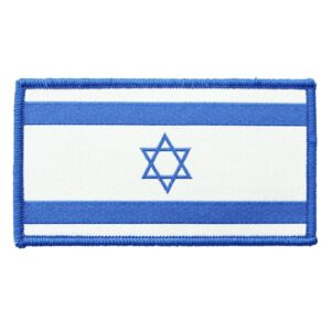 Israel Flag Patch Blue White